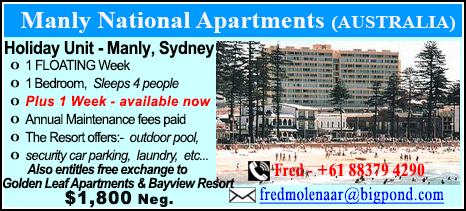 Manly National Apartments - $2500
