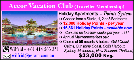 Accor Vacation Club - $33000