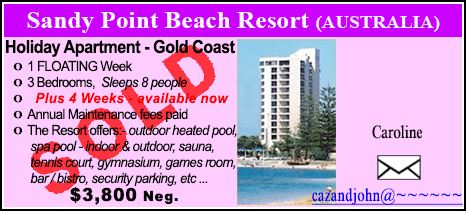 Sandy Point Beach Resort - $3800 - SOLD