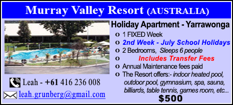 Murray Valley Resort - $500
