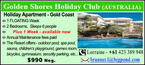 Golden Shores Holiday Club - $990