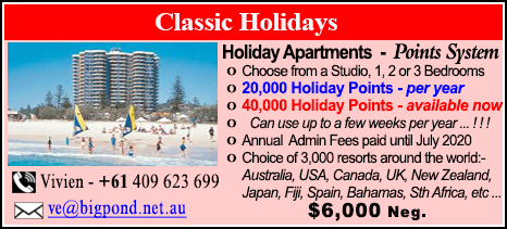 Classic Holidays - $6000