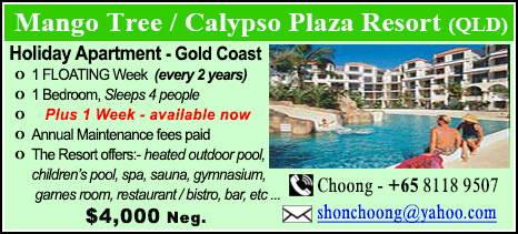 Mango Tree / Calypso Plaza Resort - $4000