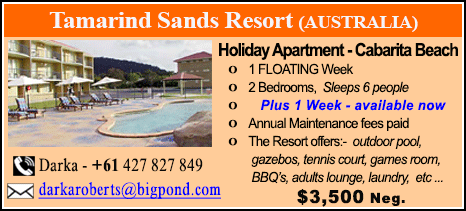 Tamarind Sands Resort - $3500