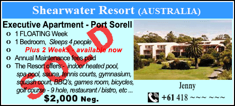 Shearwater Resort - $2000 - SOLD
