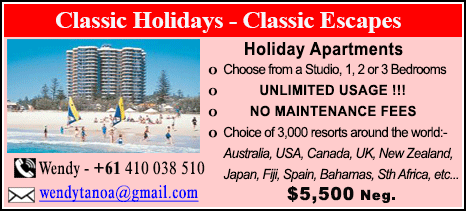 Classic Holidays - $5500