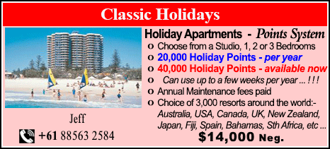 Classic Holidays - $14000