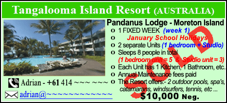 Tangalooma Island Resort - $10000 - SOLD