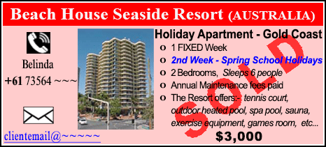 Beach House Seaside Resort - $3000 - SOLD