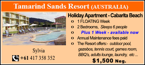 Tamarind Sands Resort - $1500