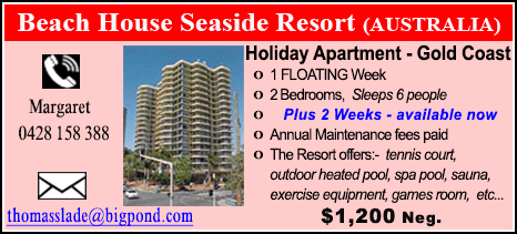 Beach House Seaside Resort - $1200