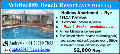 Whitecliffs Beach Resort - $2000