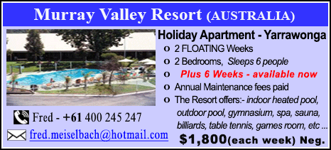 Murray Valley Resort - $1800