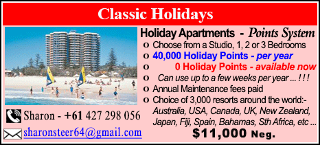 Classic Holidays - $11000