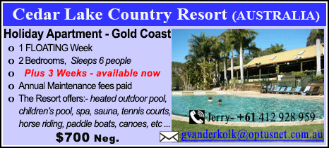 Cedar Lake Country Resort - $700