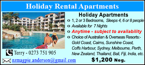 Holiday Rental Apartments - $1200
