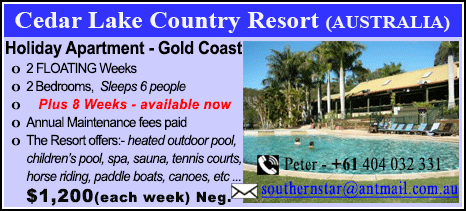 Cedar Lake Country Resort - $1200