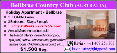 Bellbrae Country Club - $1500