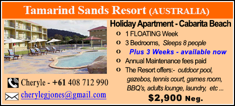 Tamarind Sands Resort - $2900