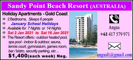 Sandy Point Beach Resort - $1400