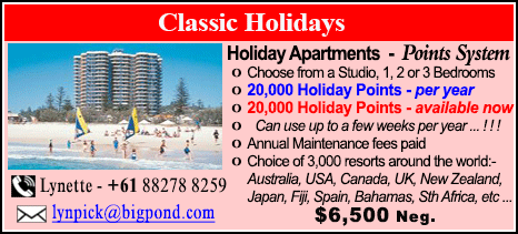 Classic Holidays - $6500