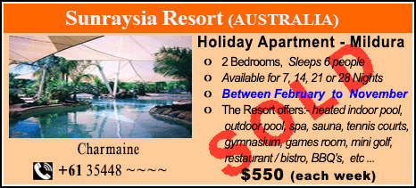 Sunraysia Resort - $550 - SOLD
