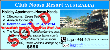 Club Noosa Resort - $850 - SOLD
