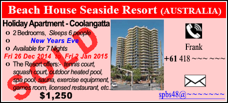 Beach House Seaside Resort - $1250 - SOLD