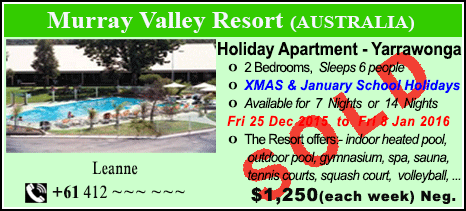Murray Valley Resort - $1250