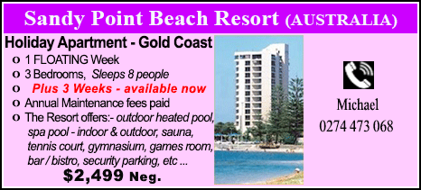 Sandy Point Beach Resort - $2499