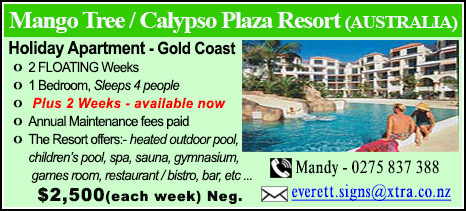 Mango Tree / Calypso Plaza Resort - $2500