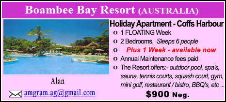Boambee Bay Resort - $900