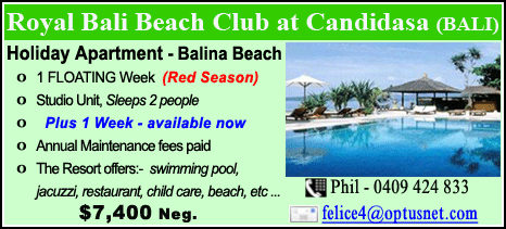 Royal Bali Beach Club at Candidasa - $7400