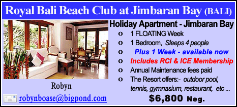 Royal Bali Beach Club at Jimbaran Bay - $6800
