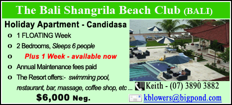 The Bali Shangrila Beach Club - $6000