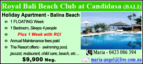 Royal Bali Beach Club at Candidasa - $9900