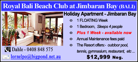 Royal Bali Beach Club at Jimbaran Bay - $12999