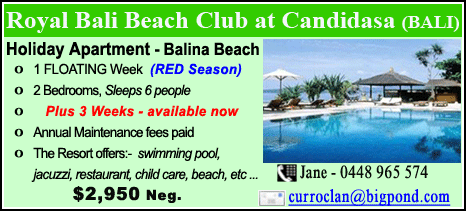Royal Bali Beach Club at Candidasa - $2950