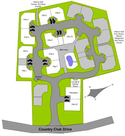 Resort Layout - Mt Martha Valley Resort, Safety Beach