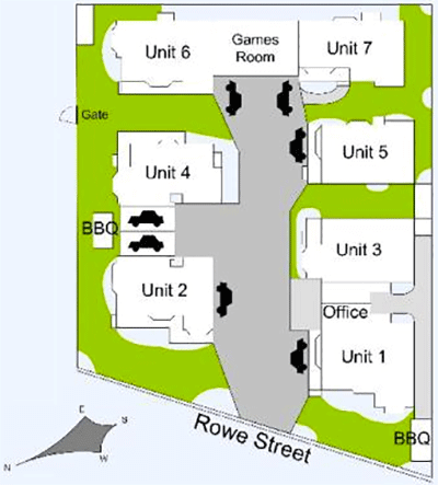 Resort Layout - Riviera Beach Resort, Lakes Entrance