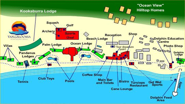 Resort Layout - Tangalooma Wild Dolphin Resort, Moreton Island